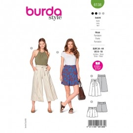 Culotte trouser sewing pattern - Burda Style n°6138