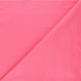 Tissu jersey milano uni - rose bonbon x 10cm