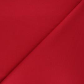 Tissu jersey milano uni - rouge x 10cm