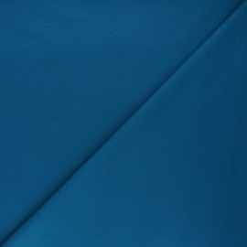 Plain milano jersey fabric - duck blue x 10cm