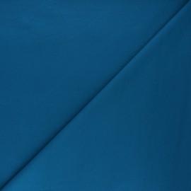 Tissu jersey milano uni - bleu canard x 10cm