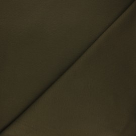 Plain milano jersey fabric - olive green x 10cm