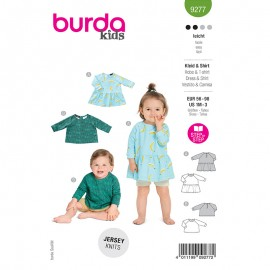 Dress and t-shirt sewing pattern - Burda Style n°9277