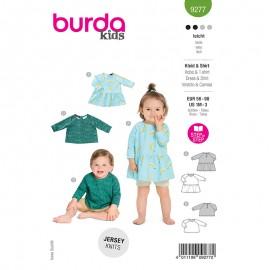 Patron robe et t-shirt bébé - Burda n°9277