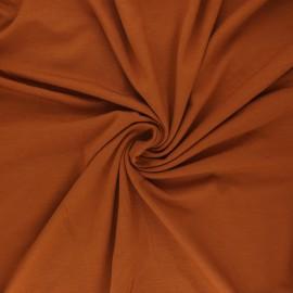 Tissu jersey bambou uni - rouille x 10cm