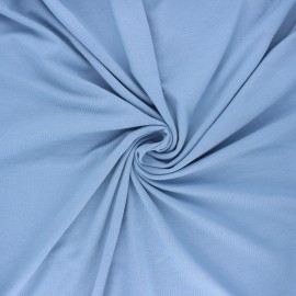 Tissu jersey bambou uni - bleu clair x 10cm