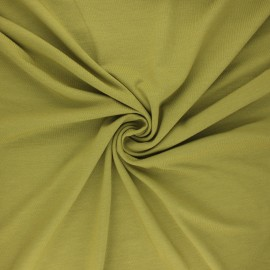 Tissu jersey bambou uni - kaki clair x 10cm