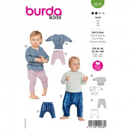 Pants and t-shirt sewing pattern - Burda Style n°9278