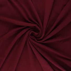 Tissu jersey bambou uni - bordeaux x 10cm