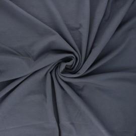 Tissu jersey bambou uni - gris souris x 10cm