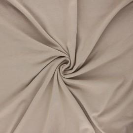 Tissu jersey bambou uni - sable x 10cm