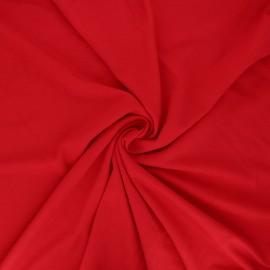Tissu jersey bambou uni - rouge passion x 10cm