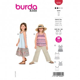 Dress and top sewing pattern - Burda Style n°9280