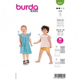 Dress and top sewing pattern - Burda Style n°9281
