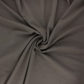 Tissu jersey bambou uni - taupe x 10cm