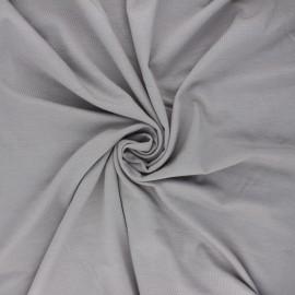 Tissu jersey bambou uni - gris perle x 10cm
