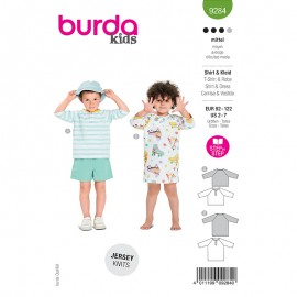 Dress and t-shirt sewing pattern - Burda Style n°9284