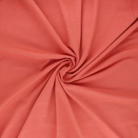 Tissu jersey bambou uni - corail x 10cm