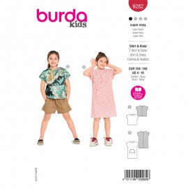Dress and t-shirt sewing pattern - Burda Style n°9282