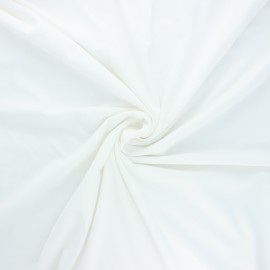 Tissu jersey bambou uni - écru x 10cm