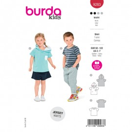 T-shirt sewing pattern - Burda Style n°9283