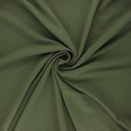 Tissu jersey bambou uni - kaki x 10cm