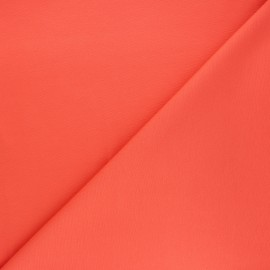Plain milano jersey fabric - coral orange x 10cm