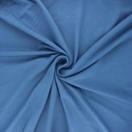 Tissu jersey bambou uni - bleu houle x 10cm