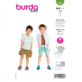 Shirt and short sewing pattern - Burda Style n°9285