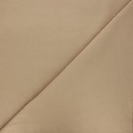 Plain milano jersey fabric - sand beige x 10cm