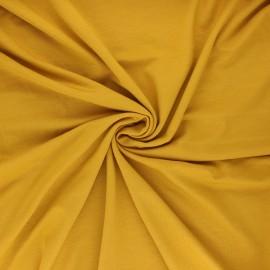 Tissu jersey bambou uni - jaune moutarde x 10cm