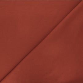 Plain milano jersey fabric - rust red x 10cm