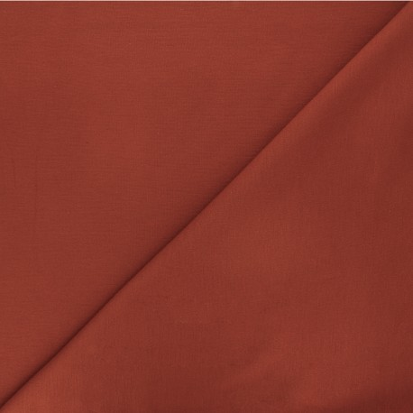 Tissu jersey milano uni - rouille x 10cm
