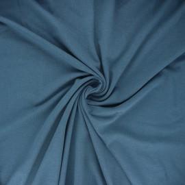 Tissu jersey bambou uni - bleu acier x 10cm
