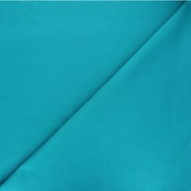 Tissu jersey milano uni - bleu lagon x 10cm