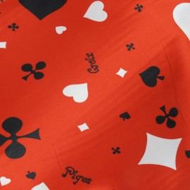Tissu Casino rouge x10cm
