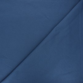 Tissu jersey milano uni - bleu houle x 10cm
