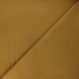 Plain milano jersey fabric - ochre x 10cm