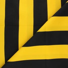 Tissu polyester Bee - noir/jaune x 10cm