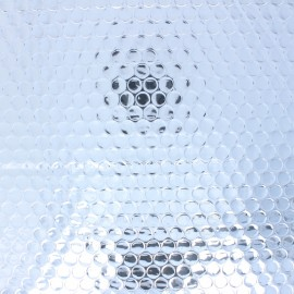 Double-sided Insulated fabric - silver x 10cm