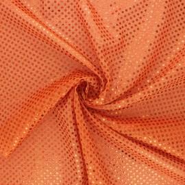 Tissu paillettes Carnaval - orange x 10cm