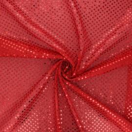 Glitter fabric - red Carnaval x 10cm