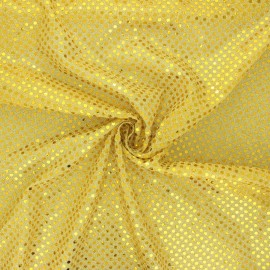Tissu paillettes Carnaval - doré x 10cm