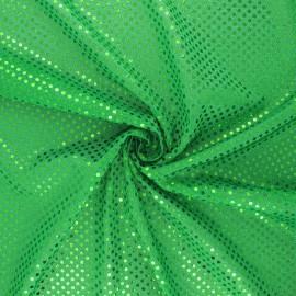 Glitter fabric - green Carnaval x 10cm