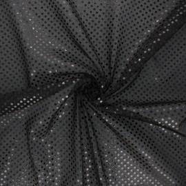 Glitter fabric - black Carnaval x 10cm