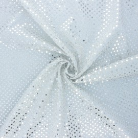 Glitter fabric - silver Carnaval x 10cm