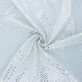 Tissu paillettes Carnaval - argenté x 10cm