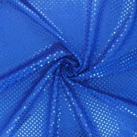 Tissu paillettes Carnaval - bleu x 10cm