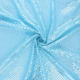 Tissu paillettes Carnaval - bleu glacier x 10cm