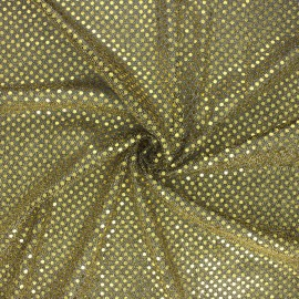 Glitter fabric - black/gold Carnaval x 10cm